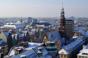 Municipio sotto la neve
